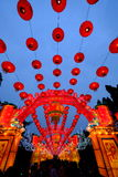 2016 Chinese New Year temple fair and lantern festival in Chengdu Royalty Free Stock Photography