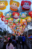 2016 Chinese New Year temple fair and lantern festival in Chengdu Royalty Free Stock Image