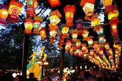 2016 Chinese New Year temple fair and lantern festival in Chengdu Royalty Free Stock Images