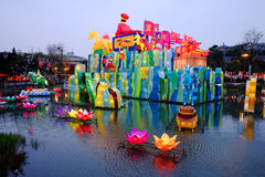 2016 Chinese New Year temple fair and lantern festival in Chengdu Stock Images