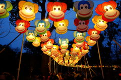 2016 Chinese New Year temple fair and lantern festival in Chengdu Royalty Free Stock Photo