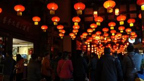 2014 Chinese New Year temple fair and lantern festival stock video