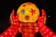 Chinese New Year Temple Fair in Panjin Stock Photos