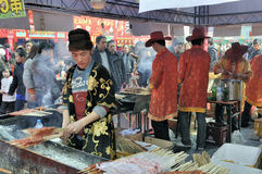 Chinese New Year Temple Fair in wuhan Stock Image