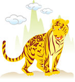 Chinese new year - Tiger. In nature area Royalty Free Stock Photos