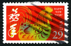 Chinese New Year USA Postage Stamp Royalty Free Stock Photography