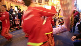Chinese new year. VALENCIA - FEBRUARY 2: Several unidentified Valencia`s Confucio college students participate in Chinese new year celebrations in Valencia on