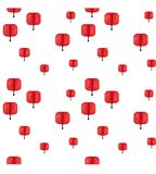 Chinese New Year vector background. Chinese New Year vector seamless background with red lanterns Royalty Free Illustration