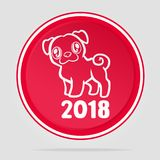 2018 Chinese Year of the dog. 2018 Chinese New Year. Year of Dog logo Vector Design Royalty Free Stock Photo