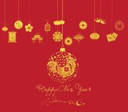 Chinese new year. Year of Rooster Royalty Free Stock Photography