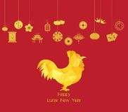 Chinese new year. Year of Rooster Stock Image