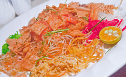 Chinese New Year Yusheng Dish. Chinese New Year Raw Fish (Yusheng) Celebration dish