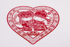 Chinese newlyweds paper-cut Royalty Free Stock Photography