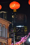 Chinese Ney Year Decorations in Singapur Lizenzfreies Stockfoto