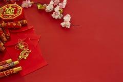 Chinese nieuwe de pruimbloemen van het jaarfestival stock foto