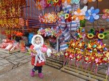Chinese nieuwe het jaarmarkt van 2012 Stock Foto