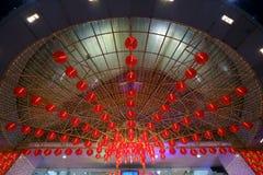 Chinese nieuwe jaar bokeh stijl Stock Afbeelding