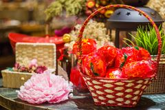 Chinese nieuwe jaardecoratie en viering Royalty-vrije Stock Afbeeldingen