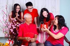 Chinese nieuwe jaarfamilie stock afbeelding