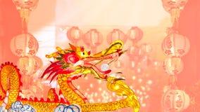 Chinese nieuwe jaarlantaarns in de stad van China Stock Foto