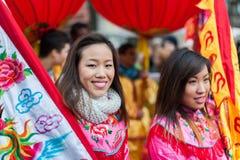 Chinese nieuwe jaarparade in Parijs Royalty-vrije Stock Afbeelding
