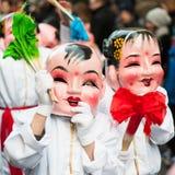 Chinese nieuwe jaarparade in Parijs Stock Foto's