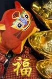 Chinese nieuwe jaarscène Stock Foto