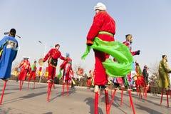Chinese nieuwe jaarviering Royalty-vrije Stock Foto's