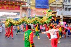 Chinese nieuwe jaarviering in Thailand Royalty-vrije Stock Afbeeldingen