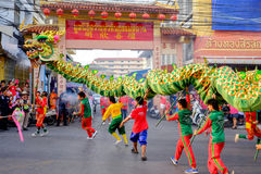 Chinese nieuwe jaarviering in Thailand Stock Foto's