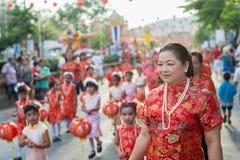 Chinese nieuwe jaarviering in Thailand Stock Fotografie