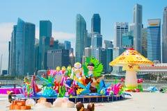 Chinese nieuwe jaarvoorbereiding Singapore Stock Afbeeldingen