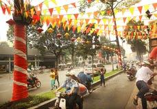 Chinese Nieuwjaardecoratie in Ho Chi Minh Royalty-vrije Stock Fotografie