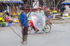 Chinese Nieuwjaardecoratie in Vietnam Stock Foto's