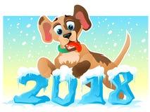2018 Chinese Nieuwjaarhond Stock Foto's
