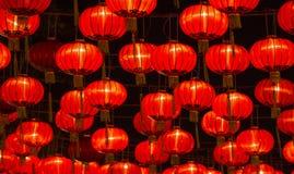 Chinese Nieuwjaarlantaarns Stock Afbeelding