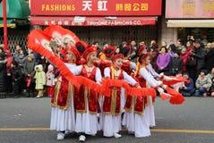Chinese Nieuwjaarparade in de Stad van Vancouver China Stock Foto