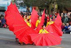 Chinese Nieuwjaarparade in de Stad van Vancouver China Stock Afbeeldingen