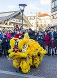 Chinese Nieuwjaarparade - het Jaar van de Hond, 2018 royalty-vrije stock foto's