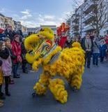 Chinese Nieuwjaarparade - het Jaar van de Hond, 2018 stock foto's