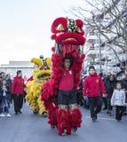 Chinese Nieuwjaarparade - het Jaar van de Hond 2018 stock foto
