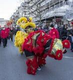 Chinese Nieuwjaarparade - het Jaar van de Hond 2018 stock fotografie