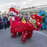Chinese Nieuwjaarparade - het Jaar van de Hond 2018 royalty-vrije stock foto's