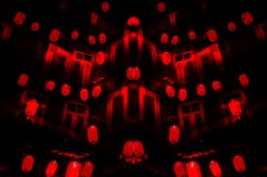 A Chinese Night: red lanterns frenzy for new year`s stock image