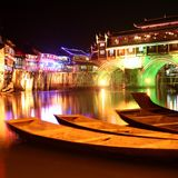 Chinese night scenes Stock Images