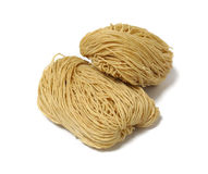 Chinese noodle. Uncook on white Stock Photo
