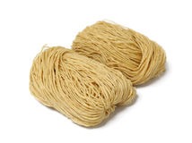 Chinese noodle. Uncooked on white Royalty Free Stock Photography