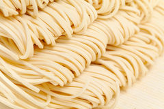 Chinese noodle. Texture close up Stock Photos