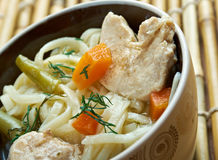 Chinese noodle with chicken Royalty Free Stock Photos