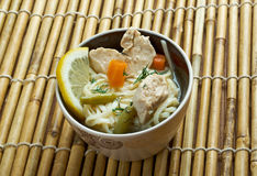 Chinese noodle with chicken Royalty Free Stock Photography